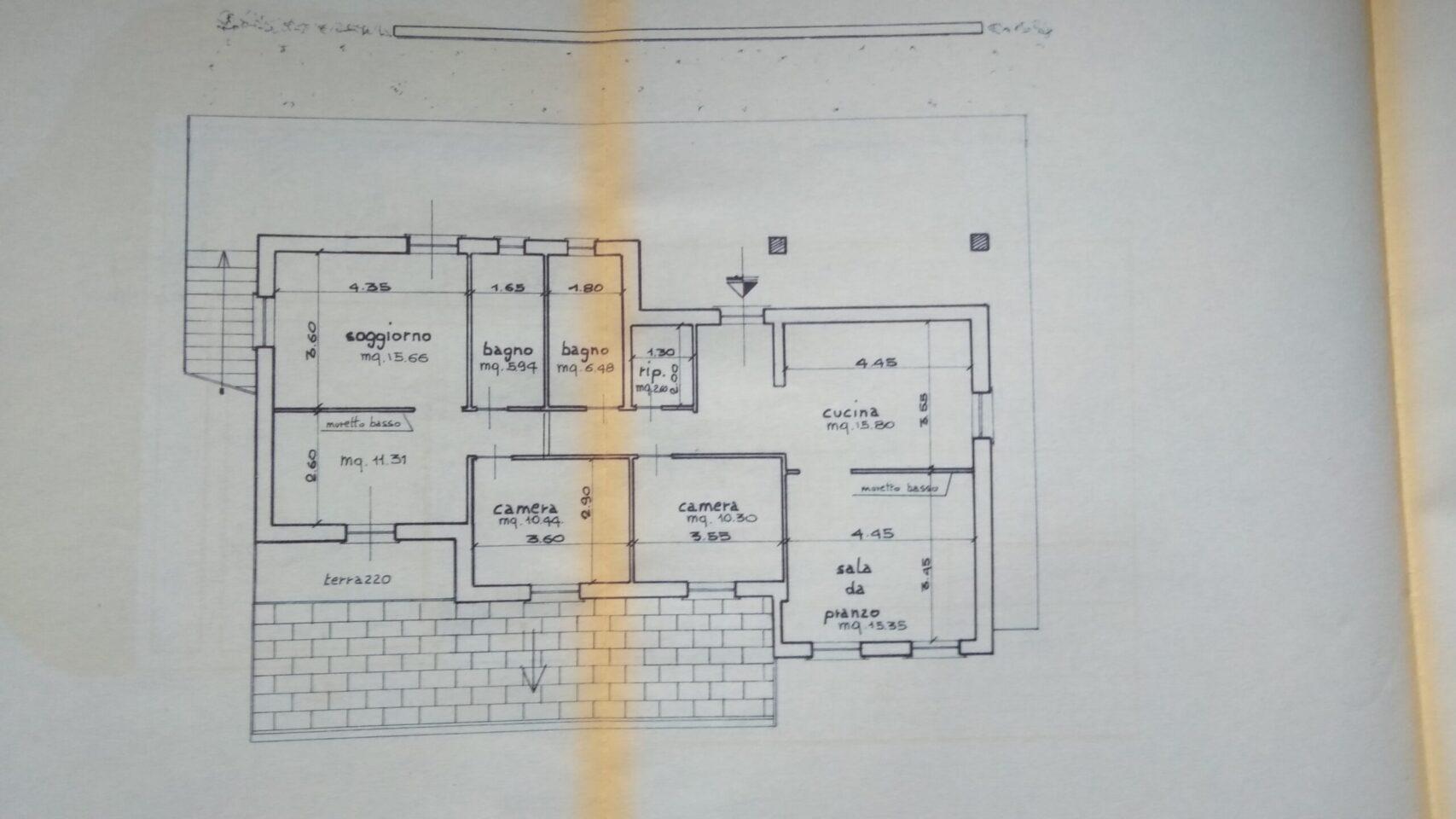 planimetria VRI 2253 BA - piano primo